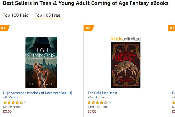 top coming of age fantasy ya ranking reached high summons.JPG