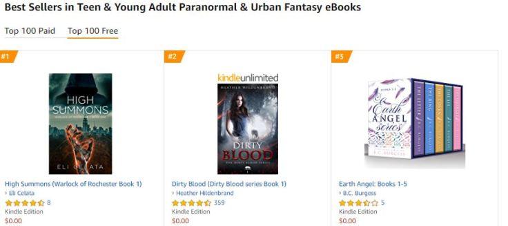 top ya urban fantasy ranking reached high summons.JPG